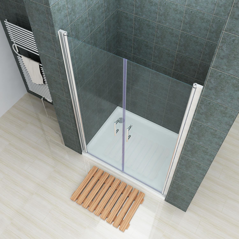 Frameless Shower Screen Double Pivot Swing Door 80 86 90